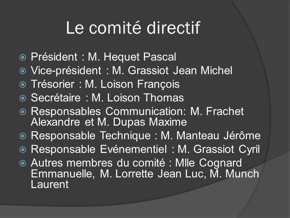 Le comité directif Président : M. Hequet Pascal