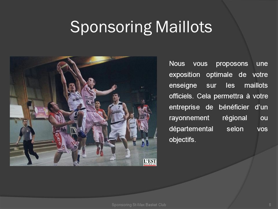 Sponsoring St-Max Basket Club