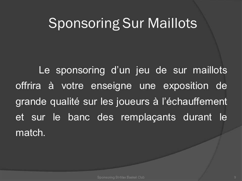Sponsoring Sur Maillots
