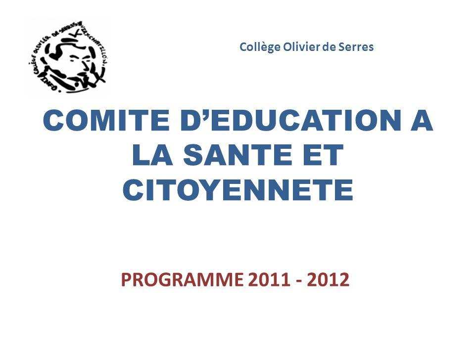 COMITE D'EDUCATION A LA SANTE ET CITOYENNETE