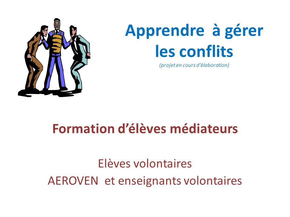 Apprendre à gérer les conflits (projet en cours d'élaboration)