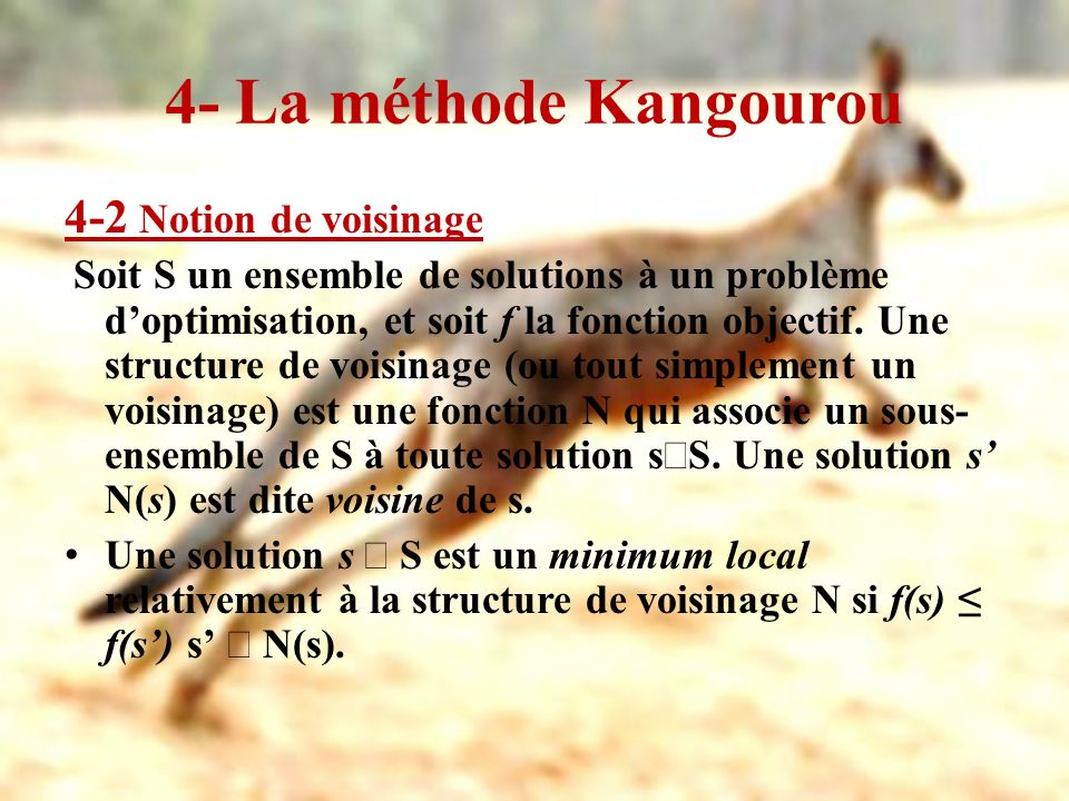 4- La méthode Kangourou 4-2 Notion de voisinage