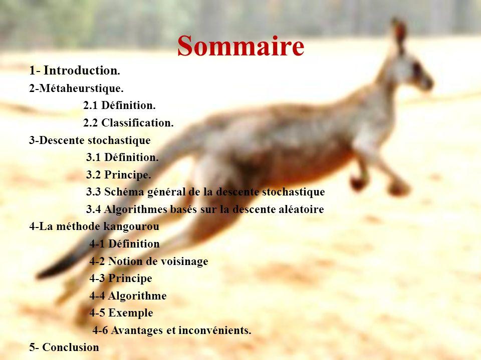 Sommaire 1- Introduction. 2-Métaheurstique. 2.1 Définition.