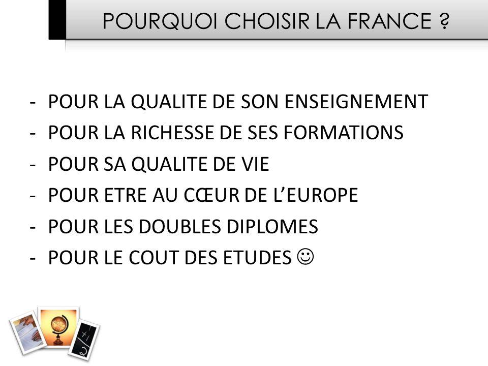 POURQUOI CHOISIR LA FRANCE