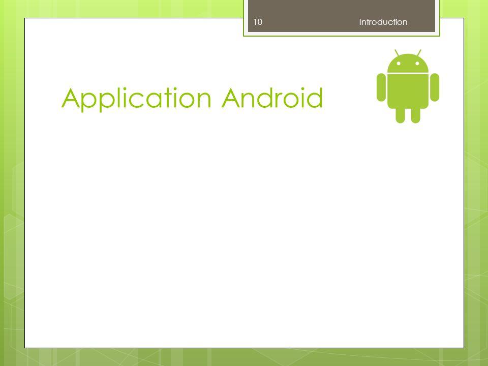 Application Android Introduction F : Ne pas parler de mobile / serveur