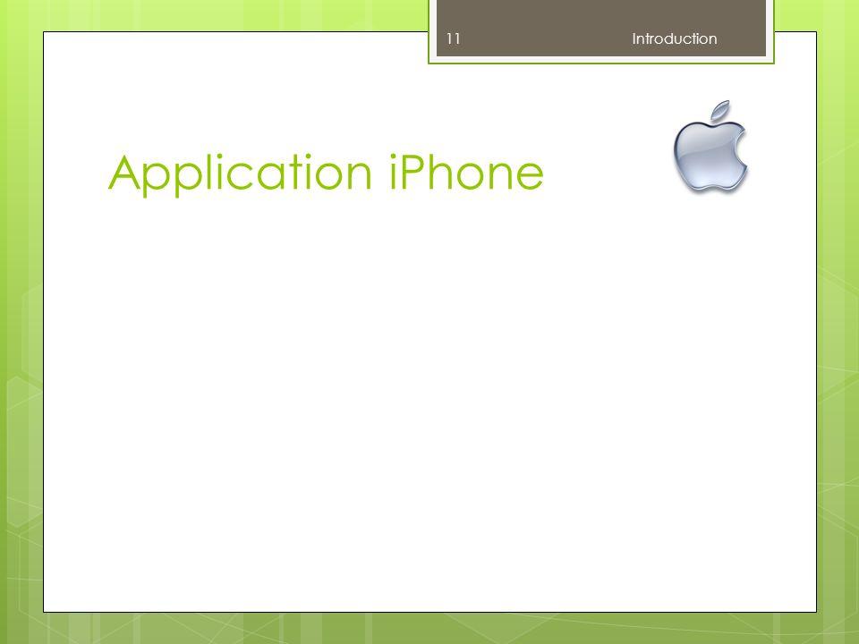 Application iPhone Introduction F : Ne pas parler de mobile / serveur