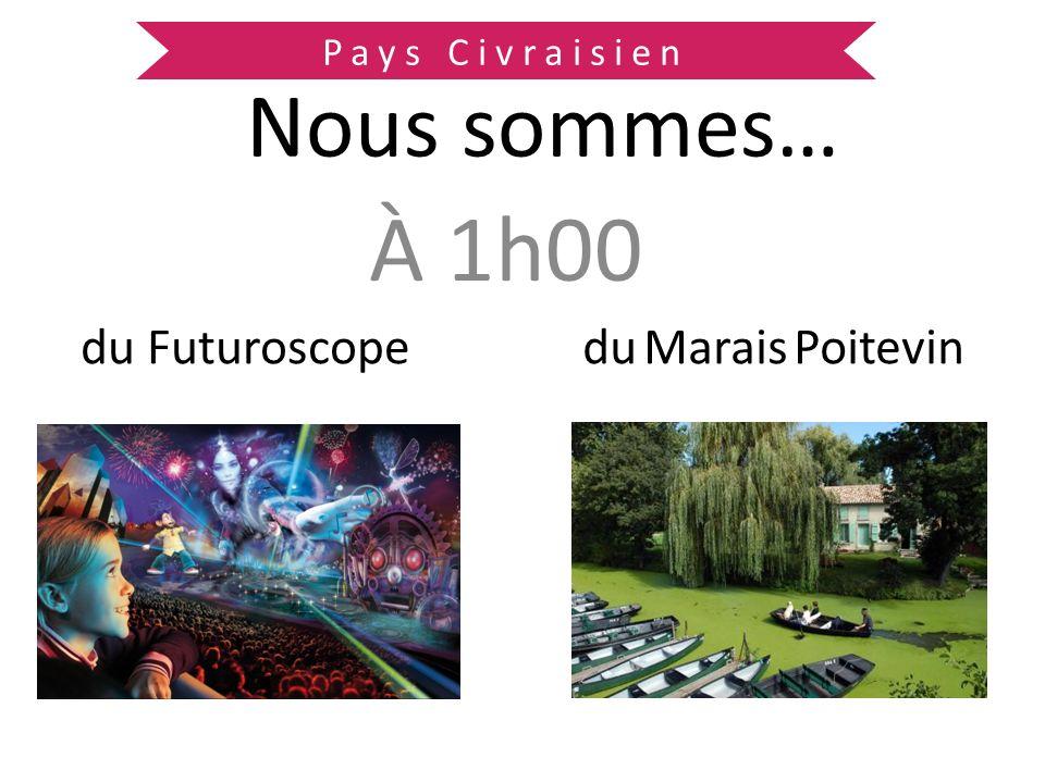 Pays Civraisien Nous sommes… À 1h00 du Futuroscope du Marais Poitevin