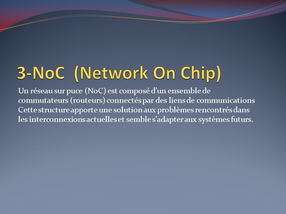 3-NoC (Network On Chip)