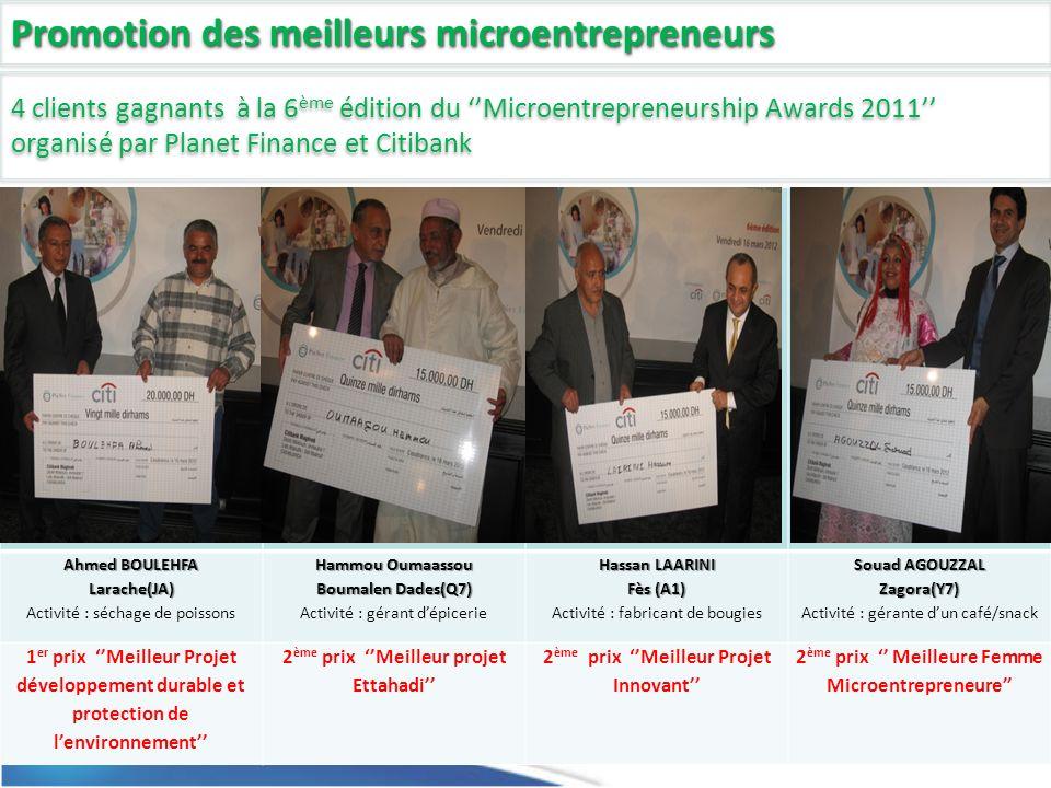 Promotion des meilleurs microentrepreneurs