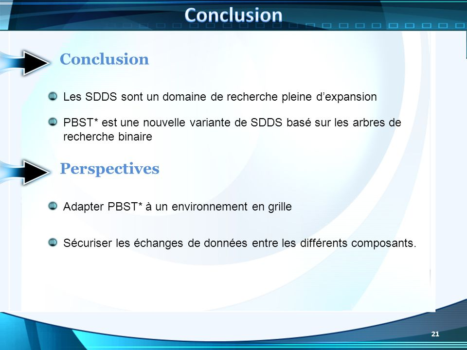 Conclusion Conclusion Perspectives