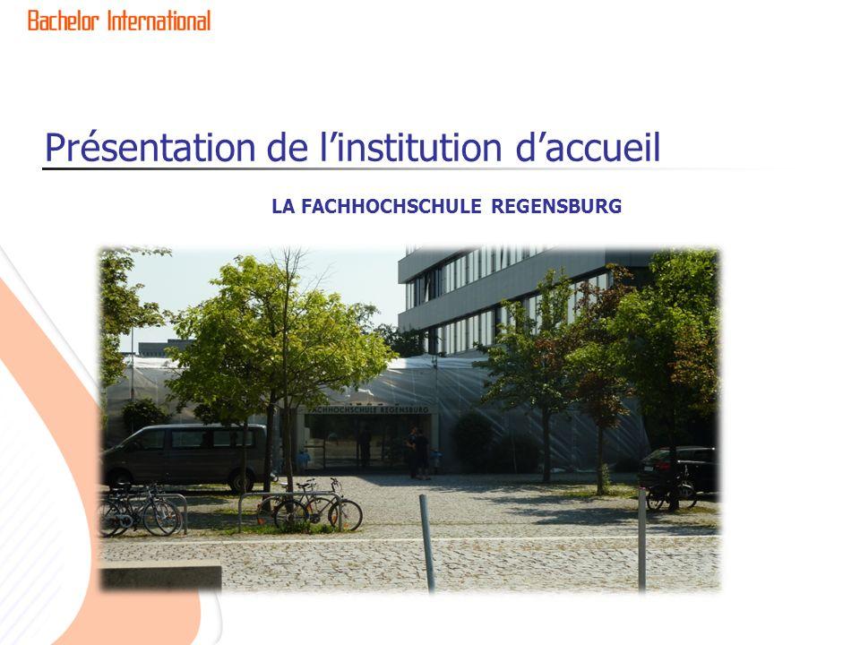 Présentation de l'institution d'accueil