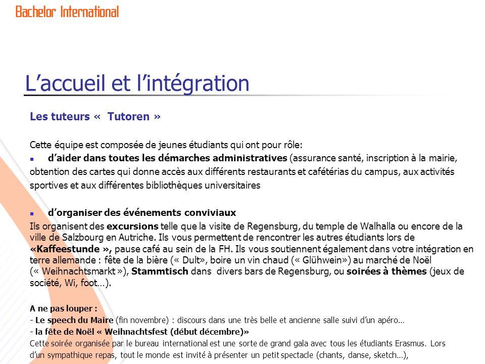 L'accueil et l'intégration
