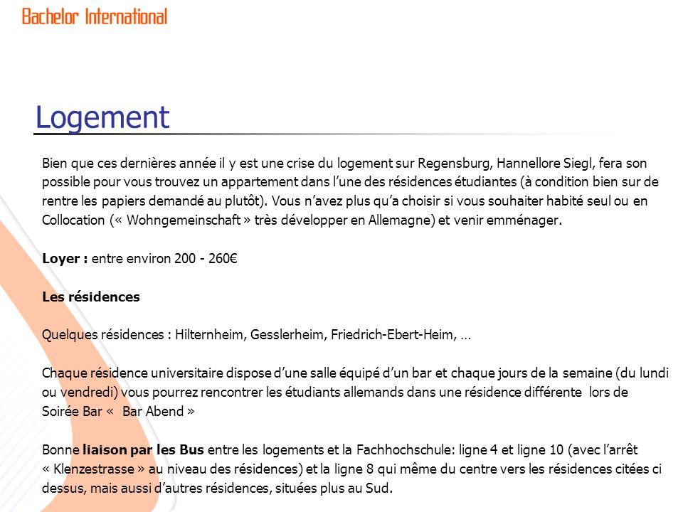 Logement Bien que ces dernières année il y est une crise du logement sur Regensburg, Hannellore Siegl, fera son.