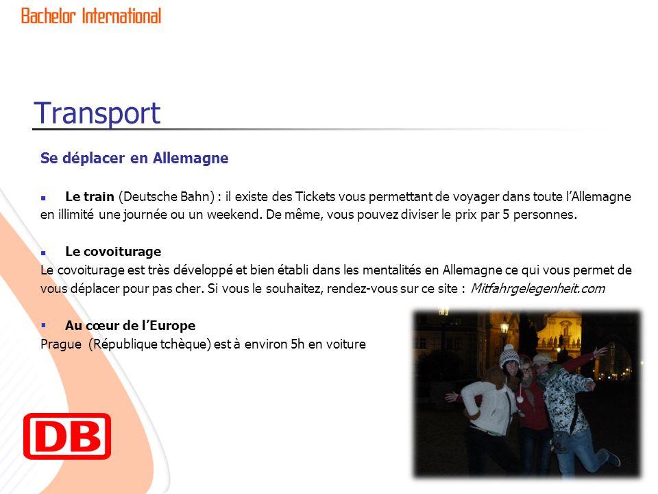 Transport Se déplacer en Allemagne