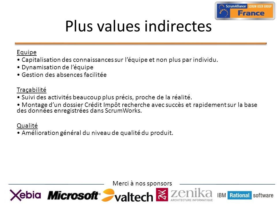 Plus values indirectes