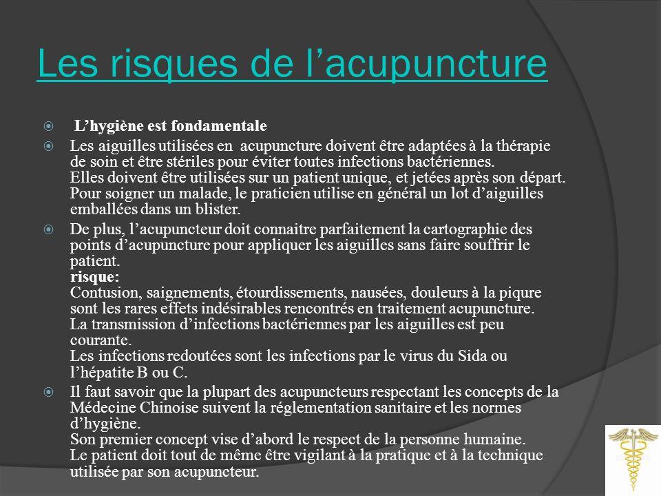 Les risques de l'acupuncture
