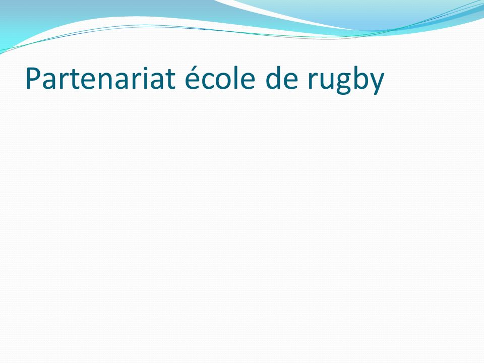 Partenariat école de rugby