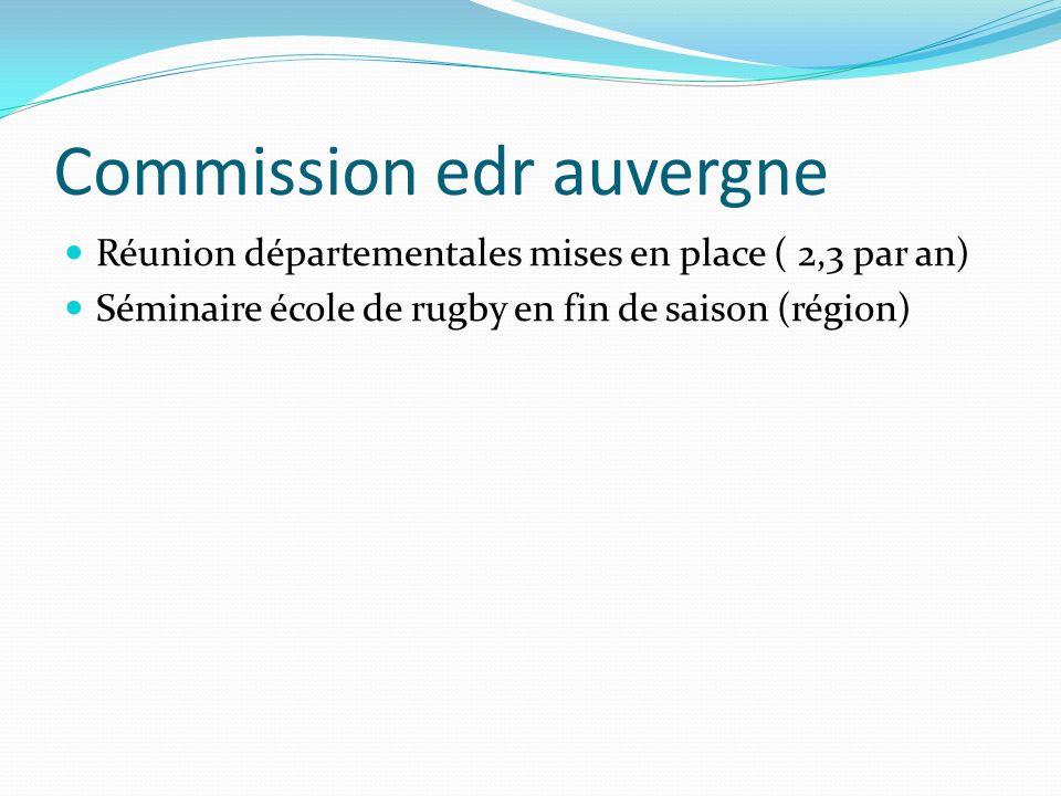 Commission edr auvergne