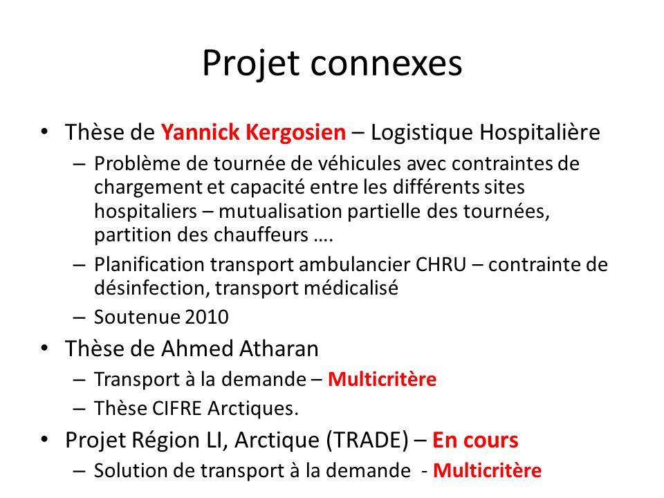 Projet connexes Thèse de Yannick Kergosien – Logistique Hospitalière