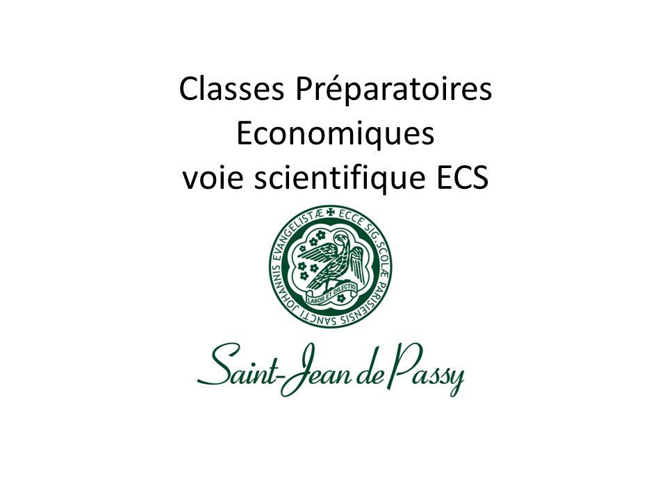 Classes Préparatoires Economiques voie scientifique ECS