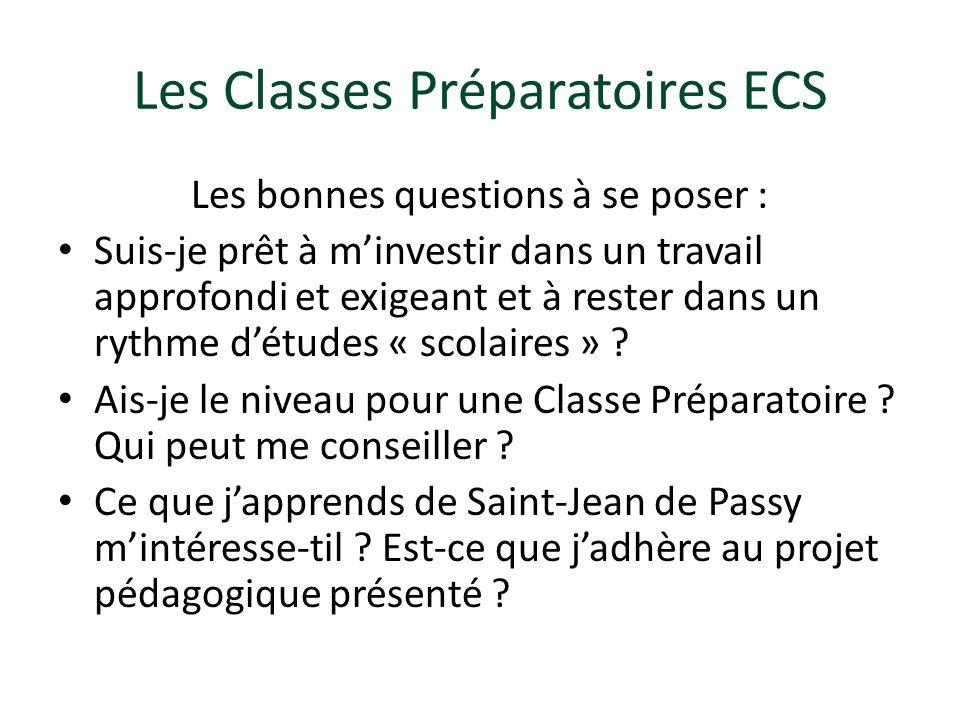 Les Classes Préparatoires ECS