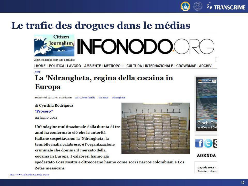 Le trafic des drogues dans le médias