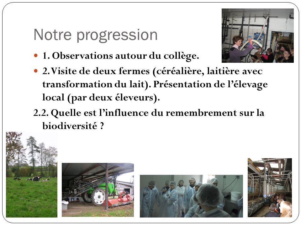 Notre progression 1. Observations autour du collège.