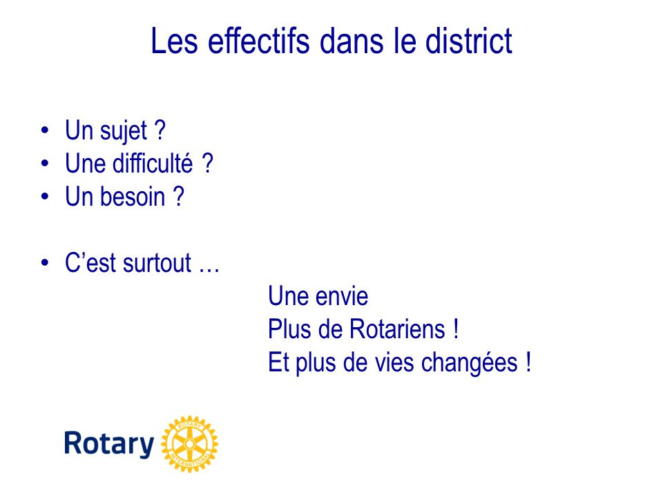 Les effectifs dans le district