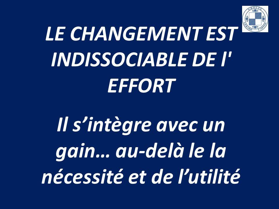 LE CHANGEMENT EST INDISSOCIABLE DE l EFFORT