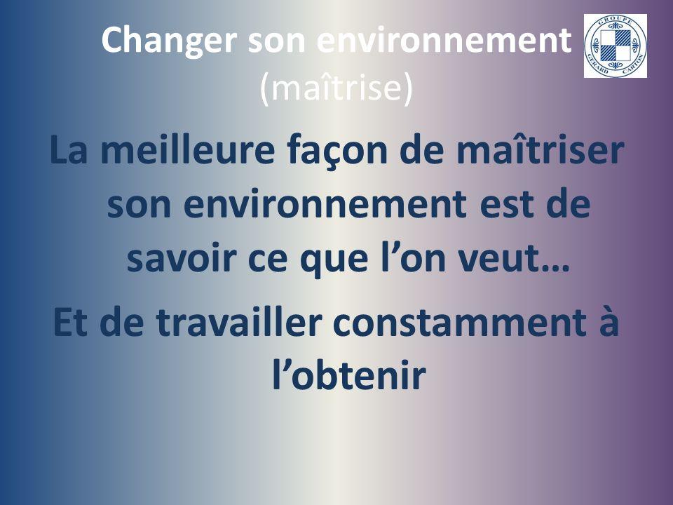 Changer son environnement (maîtrise)