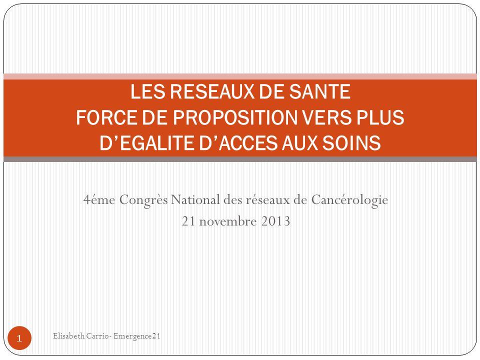 4éme Congrès National des réseaux de Cancérologie 21 novembre 2013