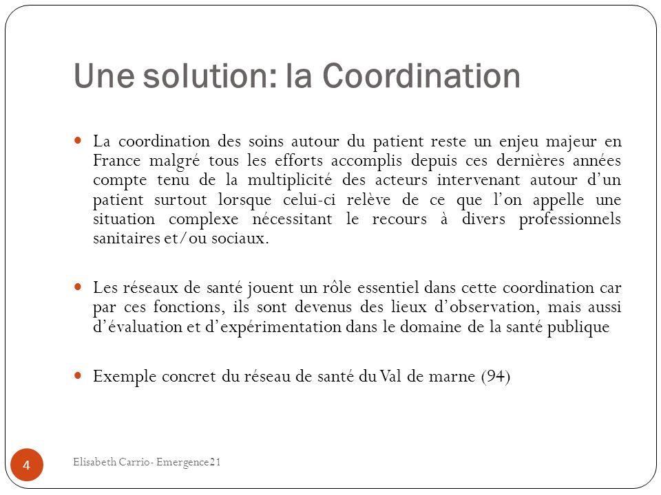 Une solution: la Coordination
