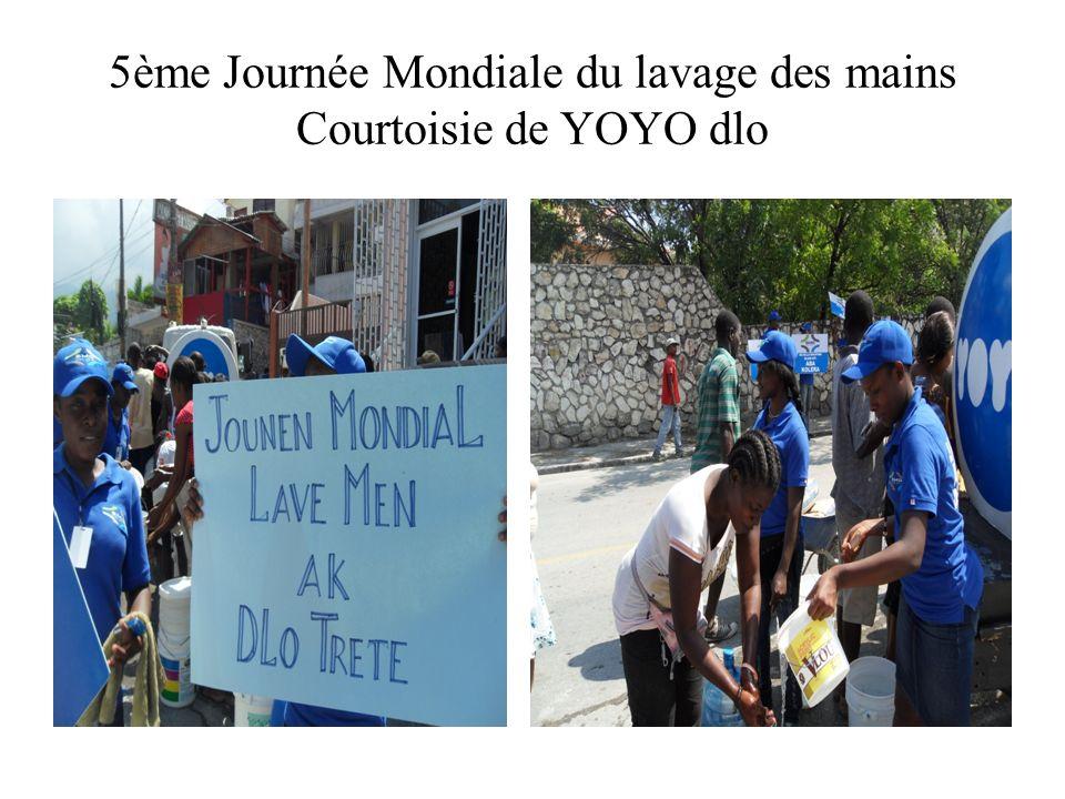 5ème Journée Mondiale du lavage des mains Courtoisie de YOYO dlo