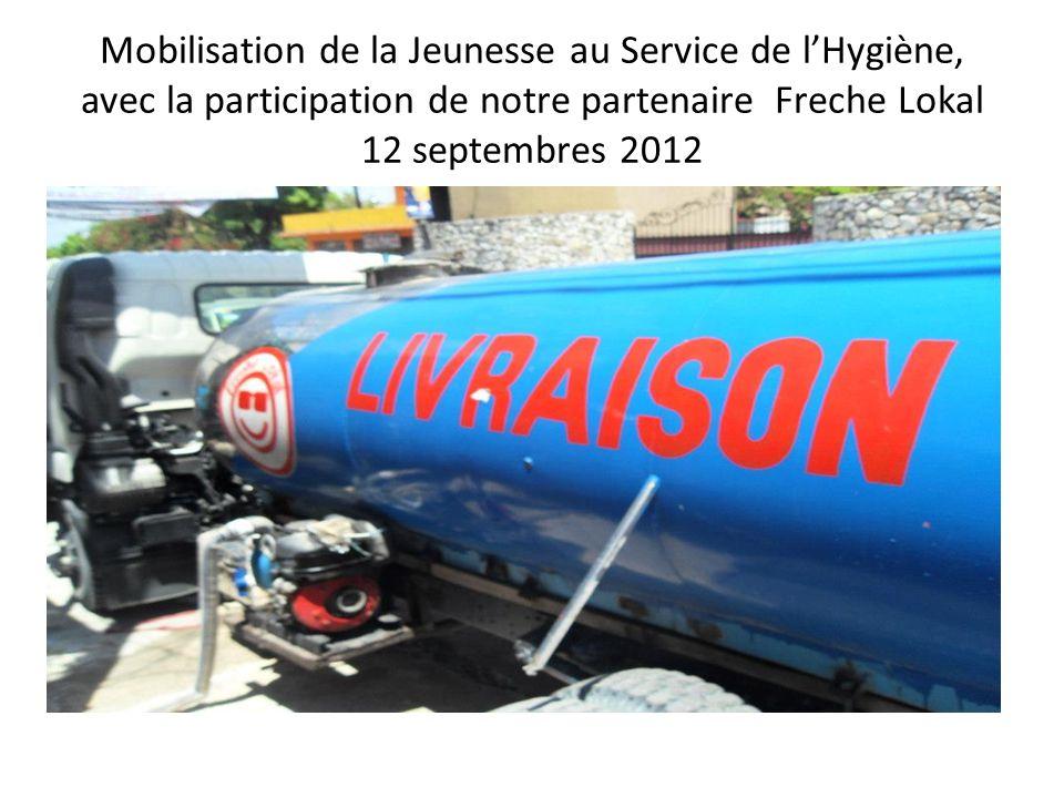 Mobilisation de la Jeunesse au Service de l'Hygiène, avec la participation de notre partenaire Freche Lokal 12 septembres 2012