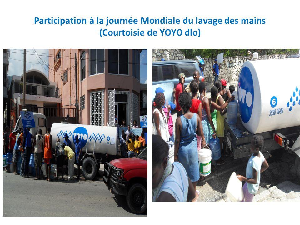 Participation à la journée Mondiale du lavage des mains (Courtoisie de YOYO dlo)