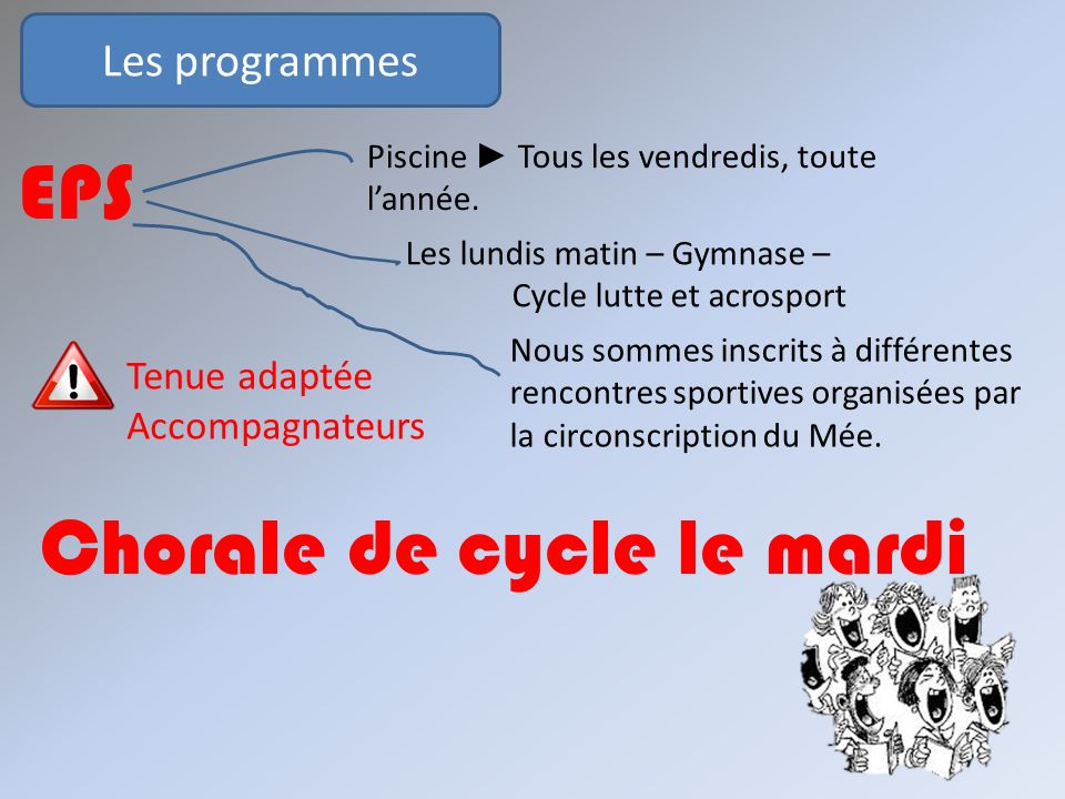 Chorale de cycle le mardi