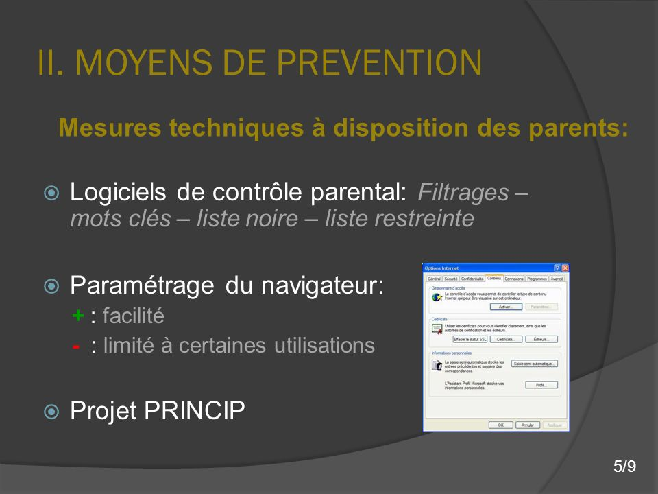 II. MOYENS DE PREVENTION