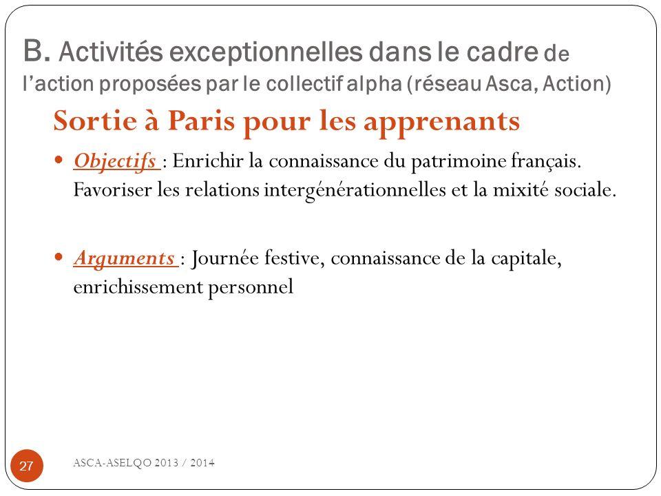 Sortie à Paris pour les apprenants