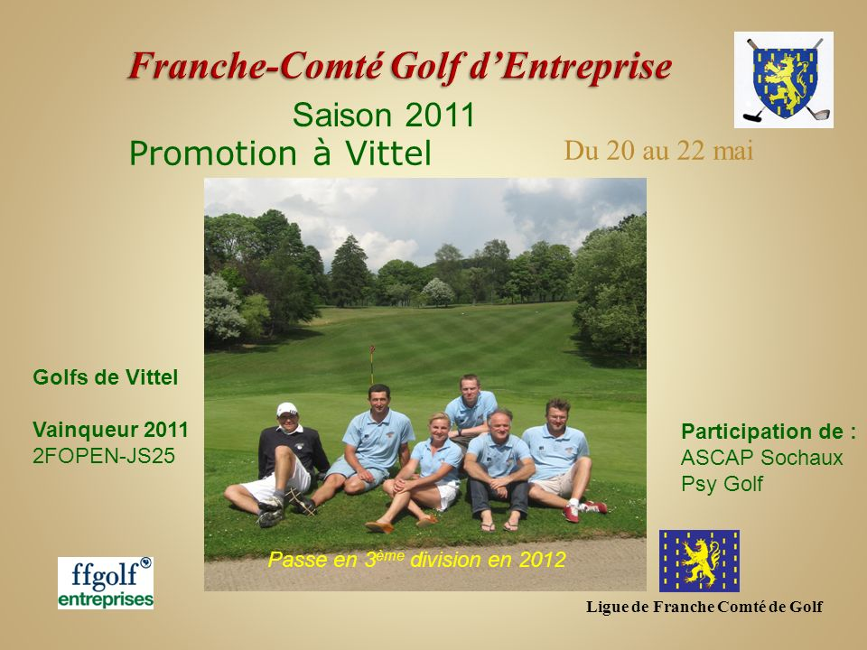 Franche-Comté Golf d'Entreprise