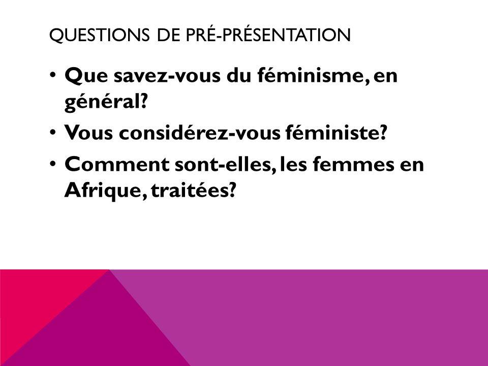 Questions de Pré-présentation