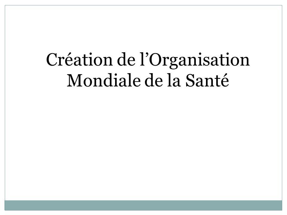 Création de l'Organisation Mondiale de la Santé