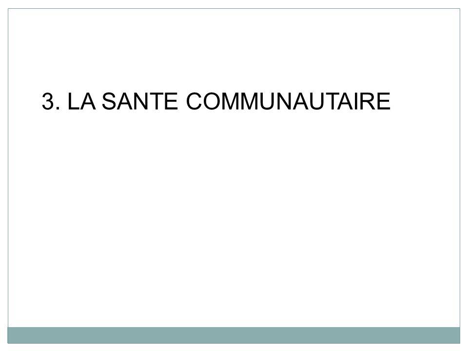 3. LA SANTE COMMUNAUTAIRE