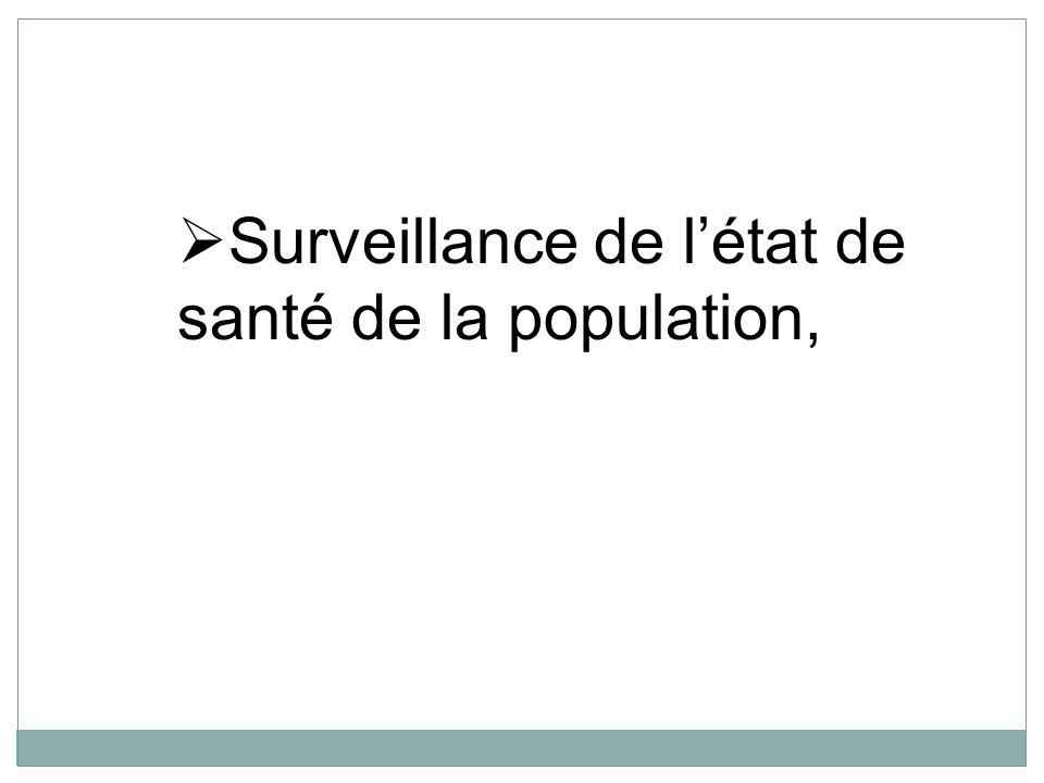 Surveillance de l'état de santé de la population,
