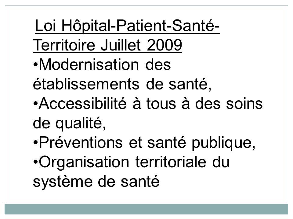 Modernisation des établissements de santé,