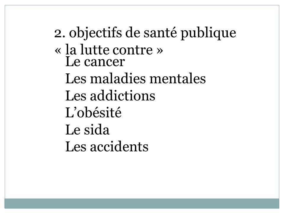 2. objectifs de santé publique