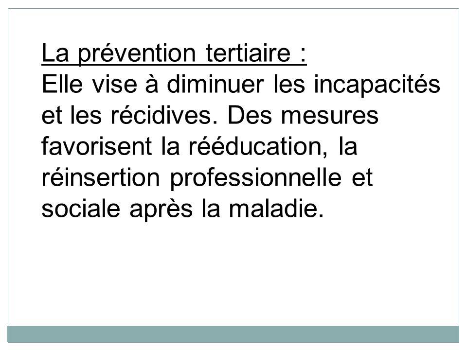 La prévention tertiaire :