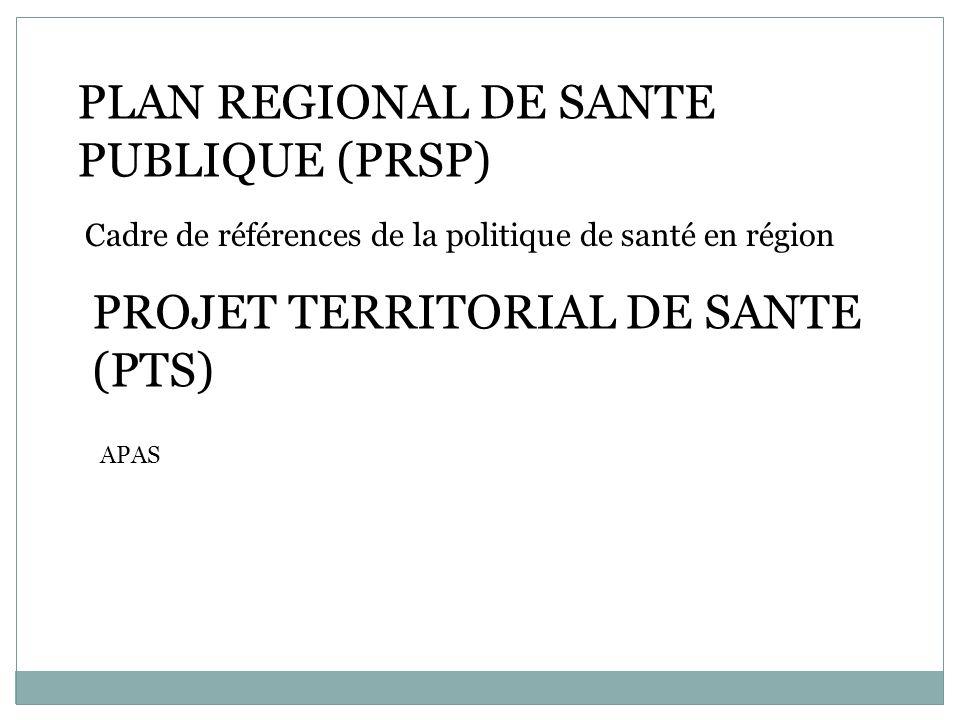 PLAN REGIONAL DE SANTE PUBLIQUE (PRSP)