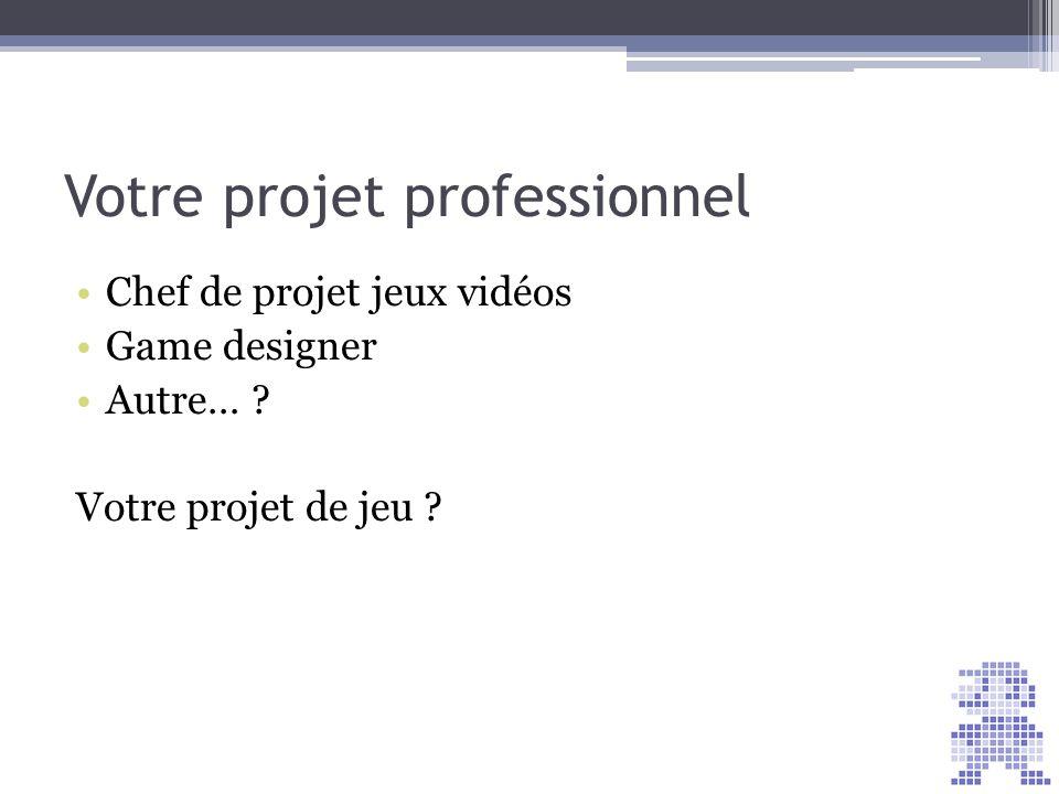 Votre projet professionnel