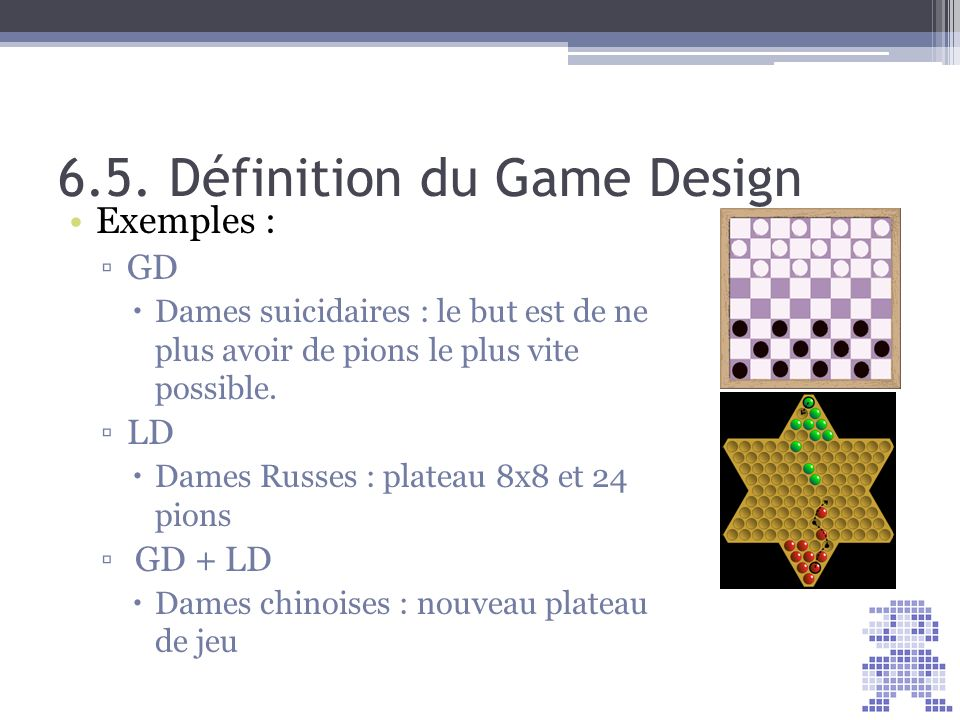 6.5. Définition du Game Design