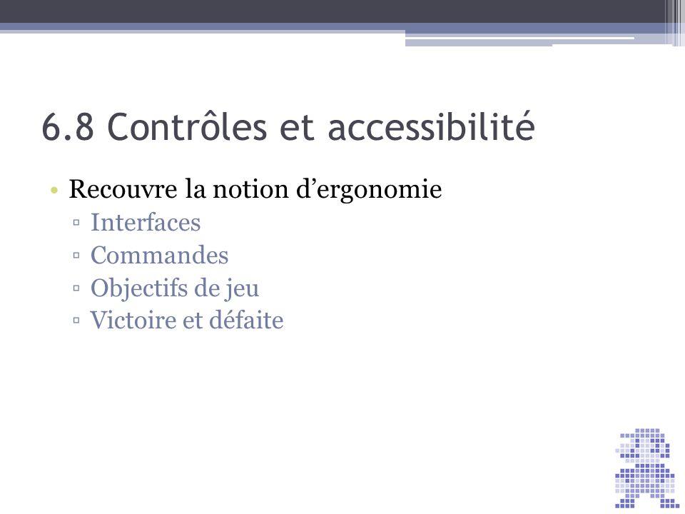 6.8 Contrôles et accessibilité